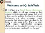 welcome to iq infotech