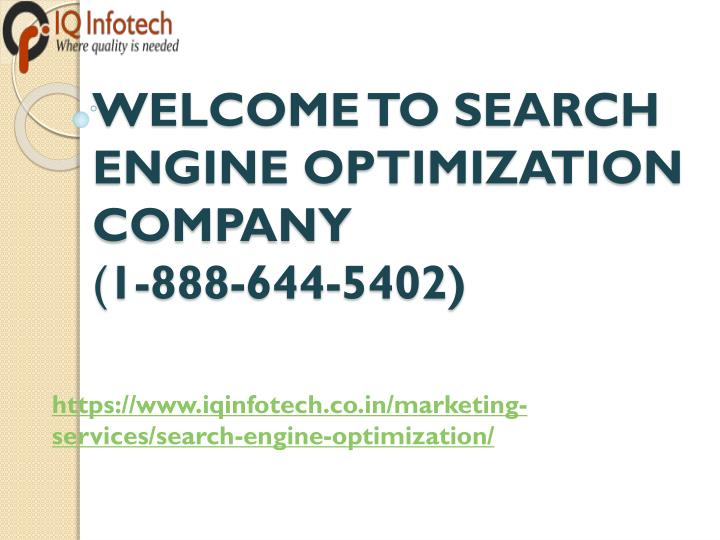 welcome to search engine optimization company 1 888 644 5402 n.