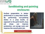 sandblasting and painting enclosures