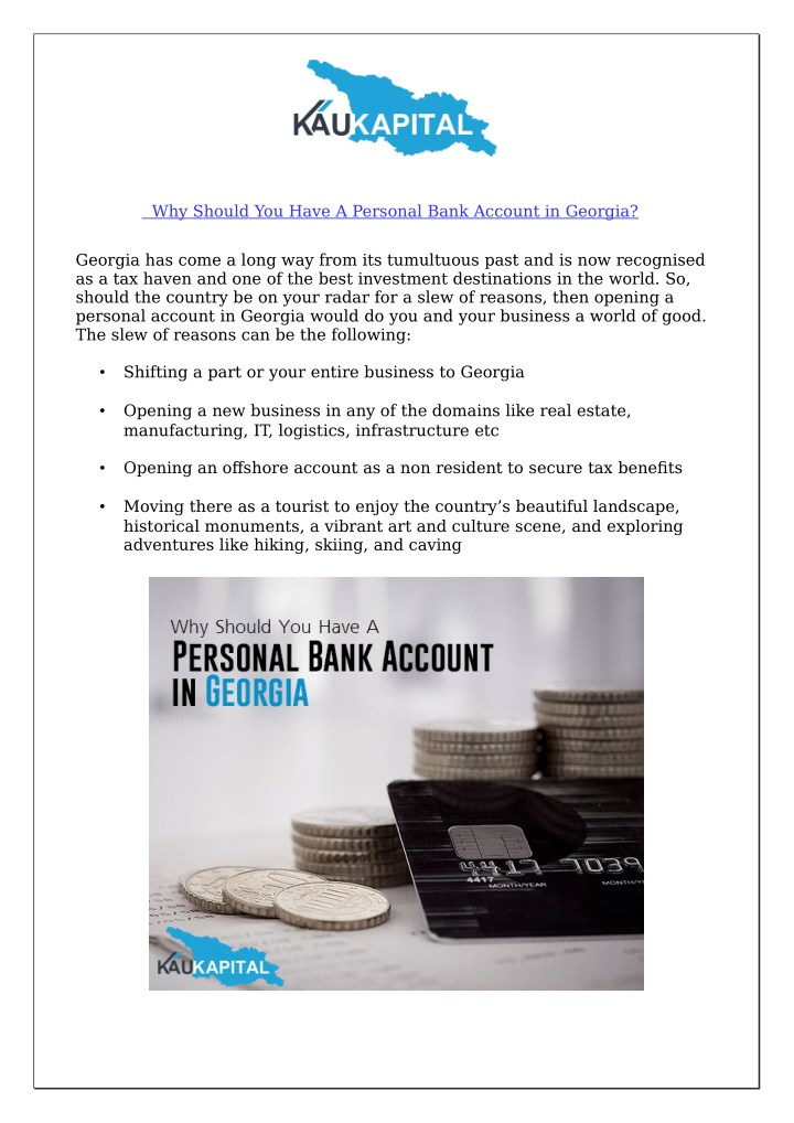why should you have a personal bank account n.