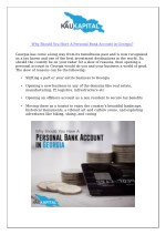 why should you have a personal bank account