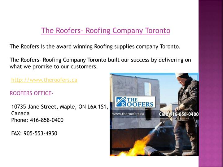 the roofers roofing company toronto n.