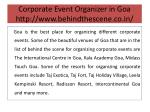 corporate event organizer in goa http www behindthescene co in 4