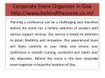 corporate event organizer in goa http www behindthescene co in 5
