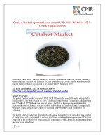 catalyst market is projected to be around