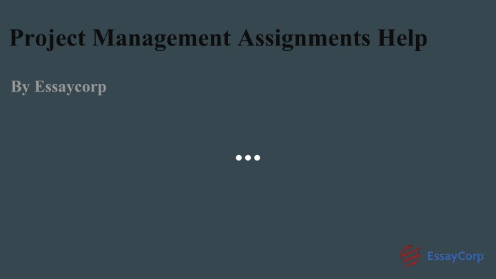 project management assignments help n.