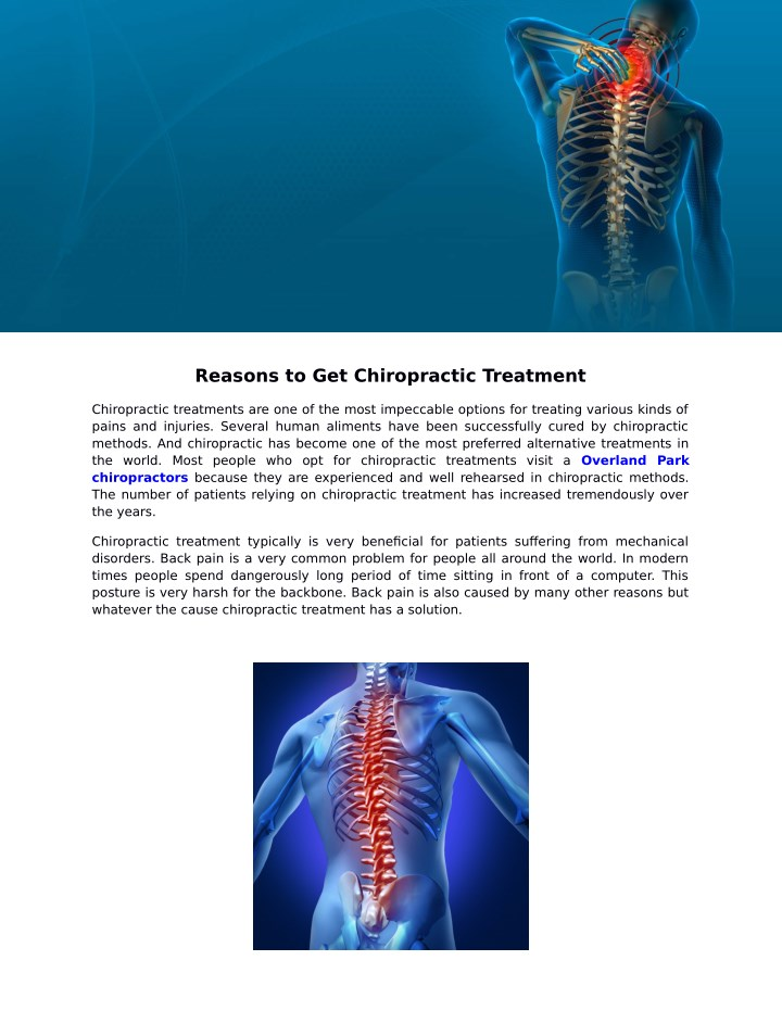 reasons to get chiropractic treatment n.