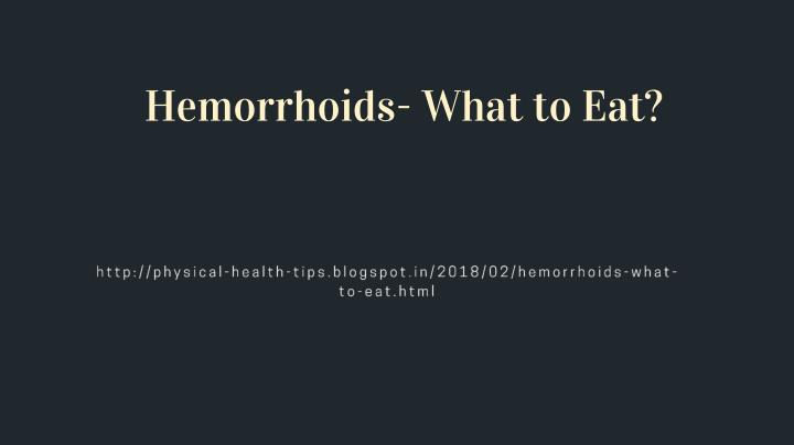hemorrhoids what to eat n.