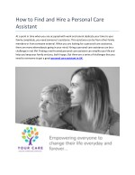 how to find and hire a personal care assistant