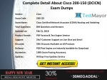 complete detail about cisco 200 150 dcicn exam