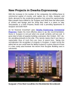 new projects in dwarka expressway