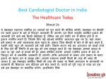 best cardiologist doctor in india 1
