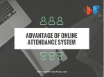 advantage of online attendance system