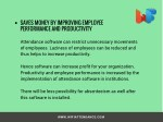 saves money by improving employee performance