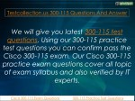 testcollection us 300 115 questions and answer