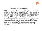 pay per click marketing ppc or pay per click