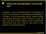 what do advertising agencies do