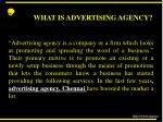 what is advertising agency
