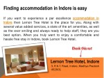 finding accommodation in indore is easy