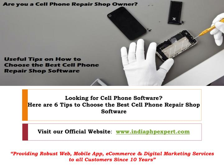 looking for cell phone software here are 6 tips n.