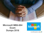 microsoft mb6 894 exam dumps 2018