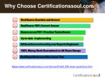 why choose certificationssoul com