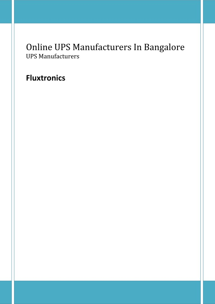 online ups manufacturers in bangalore n.