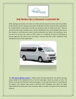 hull minibus hire is extremely comfortable bet