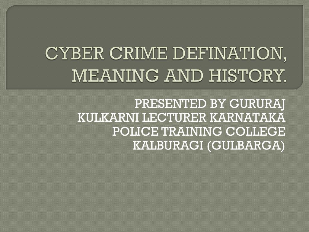Ppt Cybercrime Powerpoint Presentation Free Download Id 7794459