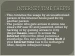internet time thefts