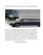 shuttle to port canaveral transportation