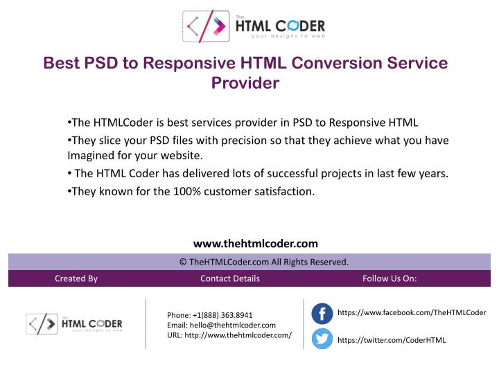 best psd to responsive html conversion service n.