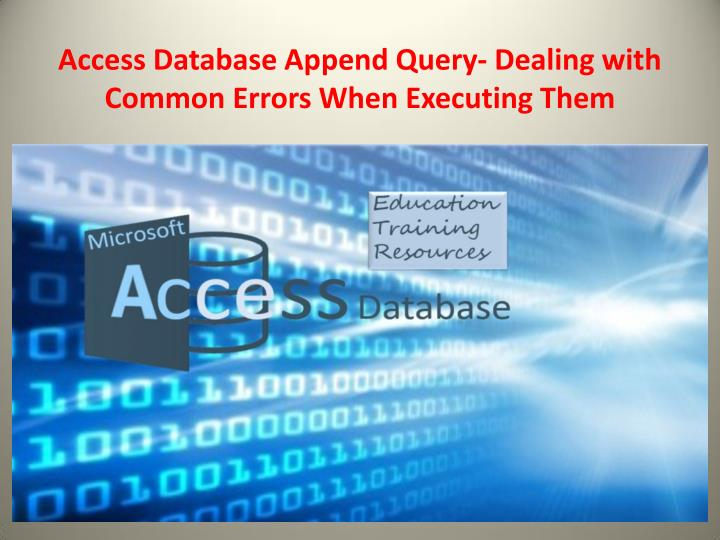 access database append query dealing with common n.