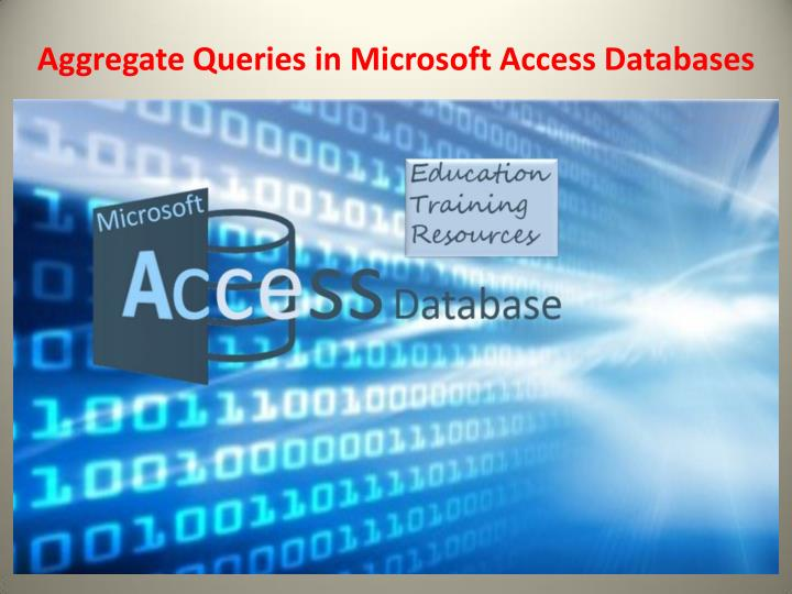 aggregate queries in microsoft access databases n.