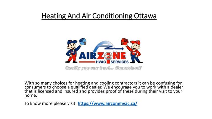 heating and air conditioning ottawa n.