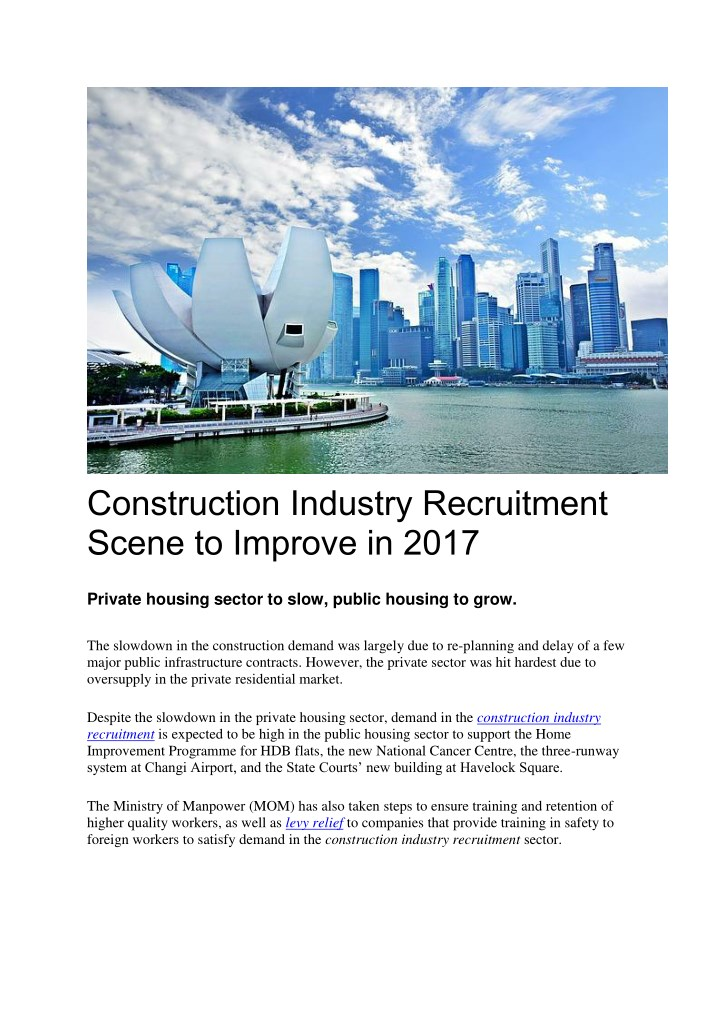 construction industry recruitment scene n.