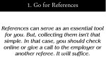 1 go for references