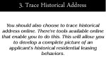 3 trace historical address