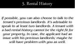 5 rental history