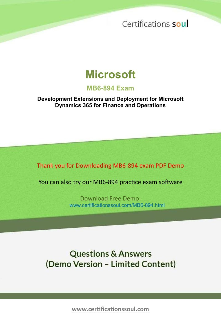 PPT - Microsoft MB6-894 Microsoft Dynamics Exam Dumps