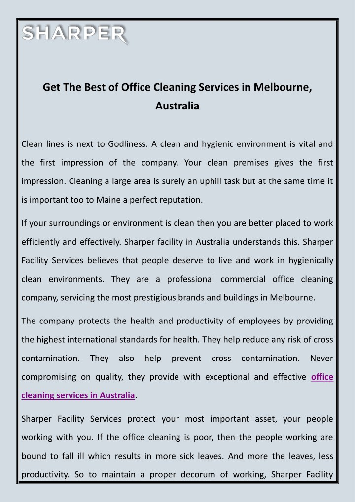 get the best of office cleaning services n.