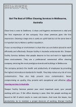 get the best of office cleaning services