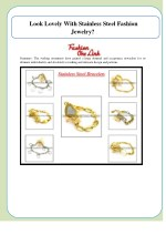 look lovely with stainless steel fashion jewelry