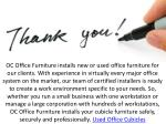 oc office furniture installs new or used office