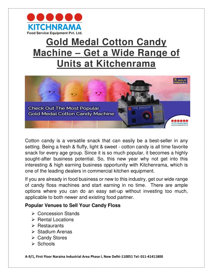 gold medal cotton candy machine get a wide range n.