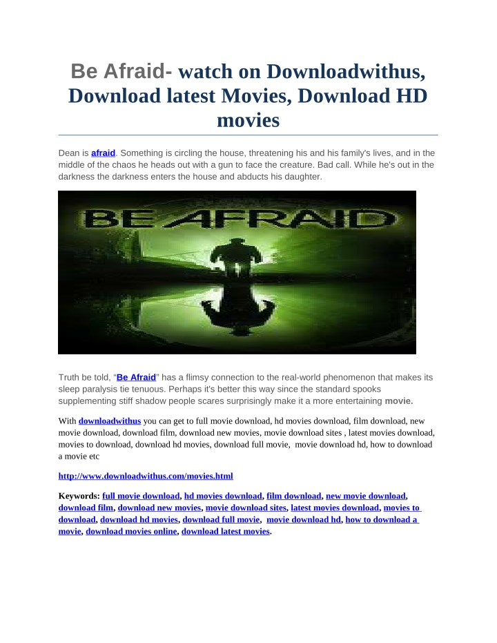 be afraid watch on downloadwithus download latest n.