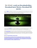 be afraid watch on downloadwithus download latest
