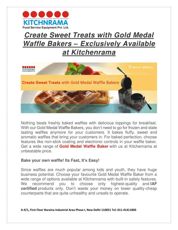 create sweet treats with gold medal waffle bakers n.