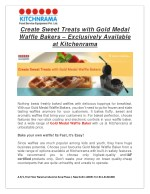 create sweet treats with gold medal waffle bakers