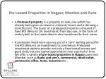 pre leased properties in nagpur mumbai and pune